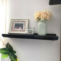 Hand Crafted Wooden Floating Wall Shelf Choose Color Options