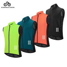 Outdoor Sports Cycling Vest Sleeveless Mesh Back Jersey Wind Coat Top Breathable