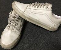 Vans Old Skool White Leather 11 Half Cab Era Authentic Sk8 HI Slip On Wtaps Lx