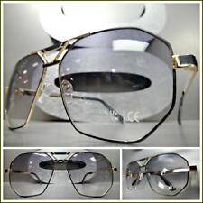 29342d75eae Men s Classic Vintage Luxury Hip Hop RETRO Style SUN GLASSES Gold   Black  Frame