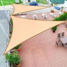 Juego de 2 Toldo Vela 3x3x3m Sombrilla Parasol Triangulo Poliéster Jardín Playa