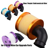 Universal Metal Air Filter Kit for 1/10 RC Nitro Car Upgrade Parts Accessories