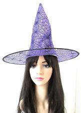 Violett & Schwarz Spinne Hexenhut Halloween Kostüm Damen Mädchen S58