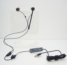 Plantronics C435-M Stereo Gray In-Ear Only USB Headsets for MicroSoft MOC & Lync