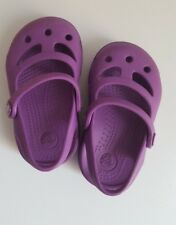 Hardly worn* CROCS Baby Girls Purple Sandals__Size C4 / UK 4 Infant