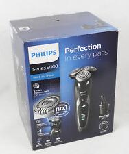 Philips Series 9000 Nass- und Trockenrasierer mit SmartClick-Bartstyler - Schwarz (S9531/31)