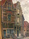 SIGNED ANNA LEHMANN DUTCH ARTIST 1876-1956 OIL ON CANVAS- STREET SCENE