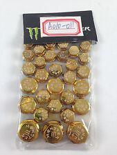30 Piece Gold Plastic Bolt Screw Decorative Caps Motorcycle Honda