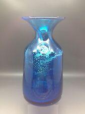 Super Vintage Mdina Carafe / Vase With Maltese Cross Seal - 20 Cm Tall