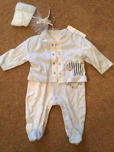 Coco Baby Boy 0 3 Months Set NEW Romper Jacket Hat Gift Set