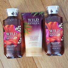 "Bath & Body Works ""WILD MADAGASCAR VANILLA"" trio, retail $41.50, NEW!"