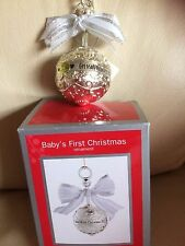 New,Heirloom ornament collection 2013 babies 1st Christmas,babies rattle, metal