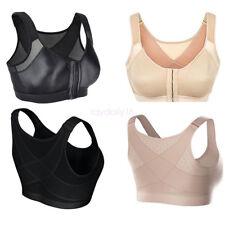 Women Lightweight Shockproof Comfort Leisure Yoga Vest Front Clasp Sports X-Bra