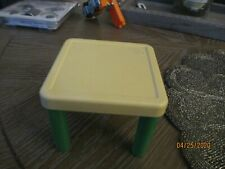 LITTLE TIKES Dollhouse Square Table Green Legs Vintage 1980'S