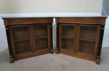 EMPIRE, REGENCY, NEOCLASSICAL STYLE CREDENZA PAIR, LOCKING CABINET, HALL CONSOLE