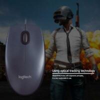 Logitech M90 USB Wired Mouse Ergonomic Optical Mouse for Laptop Desktop PC New
