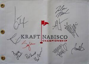 LPGA KNC golf flag signed by Stacy Lewis Inbee Park Inkster Ochoa Tseng Webb +7