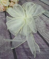 Wedding Organza Tulle Pull Bows, Church Pew Bows, Ivory Pew Bows x 12