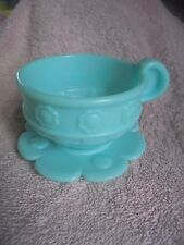 Fisher Price 77865 Musical Tea Set Replcmnt 2000 No Holes Cup Blue Flower Saucer