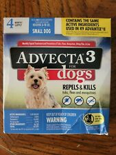 Advecta 3 Topical Flea Treatment for Small Dogs 5-10lbs 4 Applications