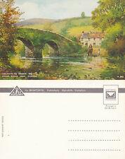 1970's MALMSMEAD BRIDGE & LORNA DOONE FARM EXMOOR DEVON UNUSED COLOUR POSTCARD