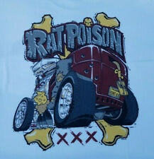 New L T-Shirt Large Rat Poison Hot Rod Rat Fink Style Screen Printed Size Large