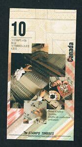 1993 CARNET TIMBRE CANADA BOOKLET STAMPS BK159  # 1461 1465 TEXTILES  oc20