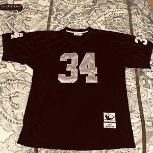 Bo Jackson Mitchell & Ness Raiders 1987 Throwback Jersey #34 Size 56