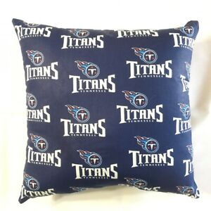NFL TENNESSEE TITANS COMPLETE 15 X 15 COTTON PILLOW - GIFTS 3 Styles