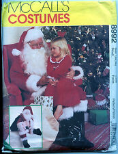 Santa Doll Pattern  plus Santa Suit Pattern - Size Small  - Uncut