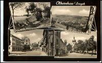 OLBERNHAU Sachsen DDR Echtfoto-AK mit 4 Ansichten s/w Postkarte