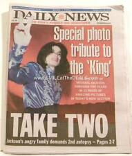 MICHAEL JACKSON NEW YORK DAILY NEWSPAPERS LOT of (8) KING of POP DEATH LOT