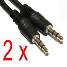 2 Unit of 12 feet 3.5 mm Male to Male M/M Jack Audio Stereo Cable For PC MP3 etc