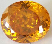 23.5x20 mm 74.9 cts oval Yellowish Orange Top Russian CZ AAAAA