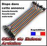 40 fils de liaison Dupont Arduino - mâle et femelle choix dans l'annonce - câble