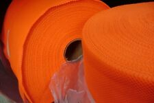 """Orange Fabric and Flexible Ranger West Safety Mesh 11"""" wide x 36"""" = 1 yard"""