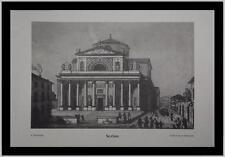 Lombardia Bergamo Seriate Chiesa Santissimo Redentore incis. 800 Collez Moreschi