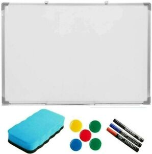 MAGNETIC WHITEBOARD DRY WIPE DRAWING WHITE BOARD OFFICE SCHOOL HOME 500MM x350MM