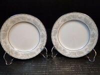 "Noritake Belmont Bread Plates 5609 6 1/4"" Set of 2 Excellent"
