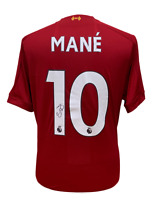 SADIO MANE SIGNED LIVERPOOL 2019/20 FOOTBALL SHIRT SEE PROOF COA CHAMPIONS