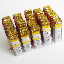 lot 50 pcs 3.7V 220mAh Lipo Battery polymer For Bluetooth GPS MP3 headset 501240