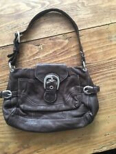 TED BAKER BEAUTIFUL  BROWN LEATHER DISTRESSED SLOUCH SMALL HAND/SHOULDER BAG