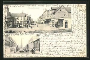 AK Borkum, Strandstrasse, Leuchtturm 1900