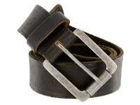 """Full Grain Vintage Black Leather Belt 1-1/2"""" Wide, Black"""