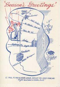 Seasons Greetings Map , Lt. Paul MacAlister - Industrial Designer Artwork Design