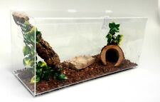 10 GALLON SPECIAL-  TERRESTRIAL CAGE WITH HINGED TOP -TARANTULA,REPTILES,,SNAKES