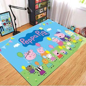 Peppa Pig Area Rug Carpet 3D Print Anti-Skid Rug Home Living Room Floor Mats