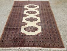 £ 650 John Lewis Hecho a Mano Alfombra Persa turcomano Bokhara 180x125cm Vintage afgano