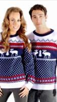 Ladies Men's Sweater Christmas Jumper Xmas Novelty Unisex Knit Long Sleeve Retro