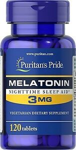 Puritans Pride Melatoni 3 mg 120 tabl
